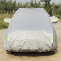 Oxford-doek Anti-stof Waterdicht Zonbestendig Vlamvertragend Ademend Binnen Buiten Volledige autohoes Zon UV Sneeuw Stofbestendige bescherming SUV Autohoes met waarschuwingsstrips, past op auto's