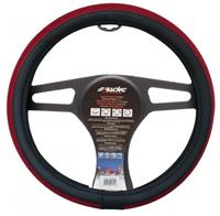 Simoni Racing stuurwielhoes Trap 37 39 cm eco leer zwart/rood