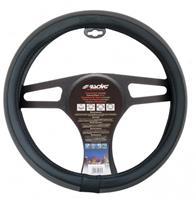 Simoni Racing stuurwielhoes Trap 37 39 cm eco leer grijs