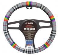 Simoni Racing stuurwielhoes Fancy 37 39 cm eco leer grijs