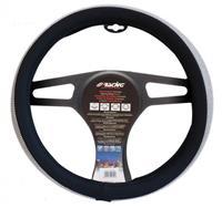 Simoni Racing stuurwielhoes Diamonds 37 39 cm eco leer zwart/wit