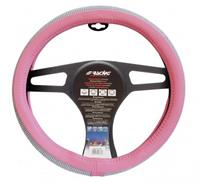 Simoni Racing stuurwielhoes Diamonds 37 39 cm eco leer roze/wit