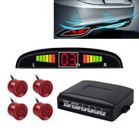 Auto zoemer achteruit back-up radarsysteem - Premium kwaliteit 4 parkeersensoren Auto achteruit back-up radarsysteem met LCD-display