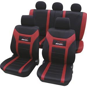 hpautozubehör HP Autozubehör 22927 Autostoelhoes Polyester Rood Bestuurder, Passagier, Achterbank