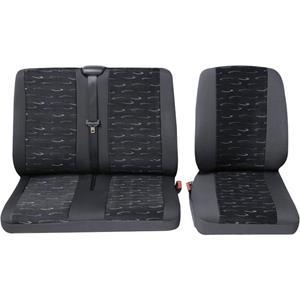 hpautozubehör HP Autozubehör 22905 Schonbezug Transporter Profi2 1E+1D Autostoelhoes Polyester Blauw Bestuurder, Passagier, Dubbele stoel