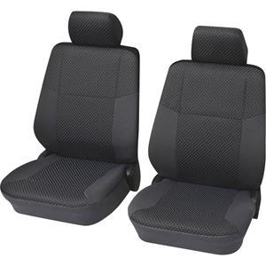 HP Autozubehör Schonbezug Malta 4tlg. grau Sitzbezug Polyester Grau Fahrersitz, Beifahrersitz