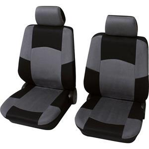 HP Autozubehör Schonbezug Classic 6tlg. Sitzbezug Polyester Grau Fahrersitz, Beifahrersitz