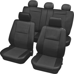 hpautozubehör HP Autozubehör 22215 Schonbezug Elba 15tlg. Zittinghoes 15-delig Polyester Antraciet Bestuurder, Passagier, Achterbank