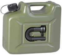 Brandstof jerrycan plastic 10L 16,5 x 35 x 31 cm