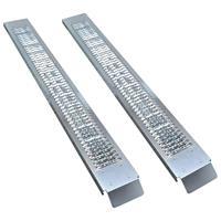 vidaXL Oprijplaten 2 st 450 kg staal