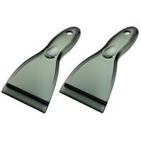 Merkloos 3x IJskrabbers/ijsschrapers transparant extra breed 22 x 10 cm -