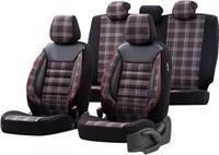 OtoM stoelhoezenset Sports textiel zwart/rood 11 delig