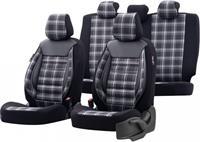 OtoM stoelhoezenset Sports textiel zwart/grijs11 delig
