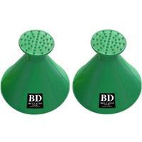 Bellatio Design 3x Ronde multifunctionele autoraam ijskrabber groen -