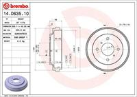 Brembo Remtrommel 14D63510