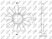 NRF Koelventilatorwiel 49811