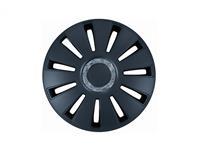 PETEX Set 15 inch Silverstone zwart | , Zwart