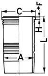 KS Kolbenschmidt Cilindervoering 89396110
