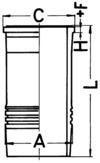 KS Kolbenschmidt Cilindervoering 89834110