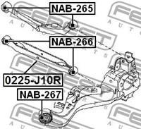 Febest Draagarmrubber NAB265