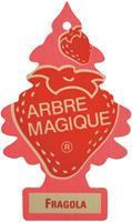 Arbre Magique luchtverfrisser 12 x 7 cm Fragola rood/roze