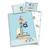 Baby Best Dekbedovertrek Piraten - blauw - 100x135 cm
