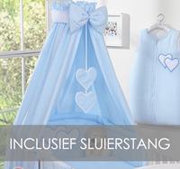 My Sweet Baby Hemel Katoen Blauw (incl Sluierstang)