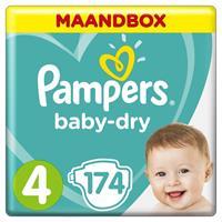 Baby Dry - Maat 4 - Maandbox - 174 luiers