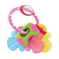 Nuby Beißring Schlüssel mit Eisgel, pink