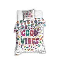 Carbotex dekbedovertrek Good Vibes 140 x 200 cm multicolor