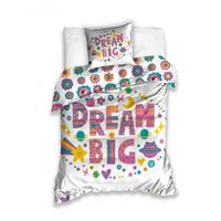 Carbotex dekbedovertrek Dream Big 140 x 200 cm multicolor