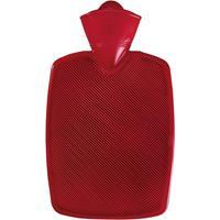 Kunststof kruik rood 1,8 liter zonder hoes - warmwaterkruik