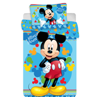 Disney Mickey Mouse Baby Dekbedovertrek Happy 100x135cm