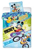 Disney dekbedovertrek Mickey Mouse Sports 140 x 200 cm multicolor