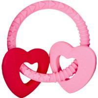 Coppenrath Verlag COPPENRATH Bijtring, roze met twee hartjes - Babygeluk - Roze/lichtroze
