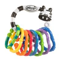 Playgro Bijtring-Rammelketting Zebra 9-delig - Kleurrijk
