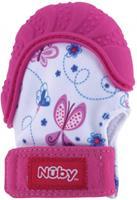 nuby bijthandschoen junior 14,6 x 2,5 x 12,4 cm siliconen roze