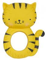 littlelovely Little Lovely bijtring Tijger junior 10,3 cm rubber zwart/geel