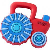HABA bijtring tractor junior 7 x 7 cm rood/blauw
