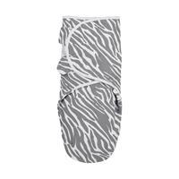 Meyco Zebra Swaddle Inbakerdoek Grijs 0-3 Mnd