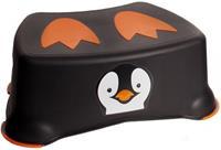 Jippie's toiletkrukje Pinguin 26,2 x 14,6 cm zwart/oranje