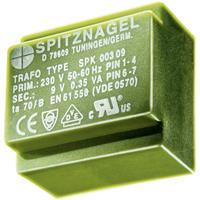SPK 00424 Printtransformator 1 x 230 V 1 x 24 V/AC 0.45 VA 19 mA