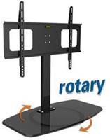 tafelstandaard voor schermen tot 65 inch / draaibare voet / zwart