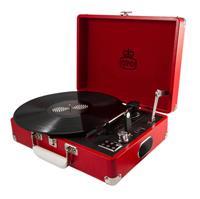Kofferplatenspeler incl. ingebouwde speakers - Rood