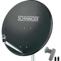 SCHWAIGER SAT-SYSTEEM VOOR 1 SATELLIET - SAT-SCHOTEL 80 CM, ANTRACIET, LNB - 2 AANSLUITINGEN
