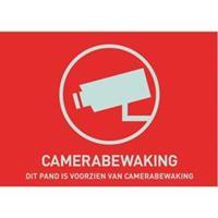 ABUS AU1305 Waarschuwingssticker Camerabewaking Taal: Nederlands (b x h) 74 mm x 53 mm
