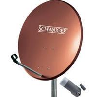 SCHWAIGER SAT-SYSTEEM VOOR 1 SATELLIET - SAT-SCHOTEL 60 CM, BAKSTEENROOD, LNB - 1 AANSLUITING