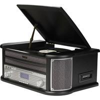 MRD-51 Stereoset DAB+, CD, Cassette, Platenspeler, AUX, USB Opnamefunctie 2 x 2.5 W Bruin