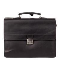 Burkely Vintage Dean Briefcase 3 Zwart