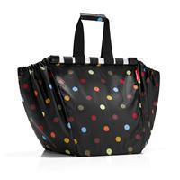 reisenthel Easyshoppingbag - Boodschappentas voor winkelwagen - Opvouwbaar - Polyester - 30L - Dots Zwart